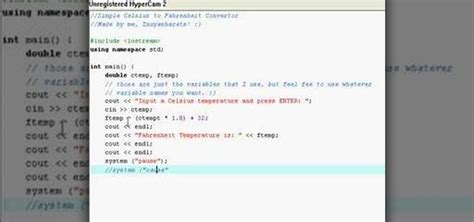 How to Make a Celsius to Fahrenheit converter in C++ « C++
