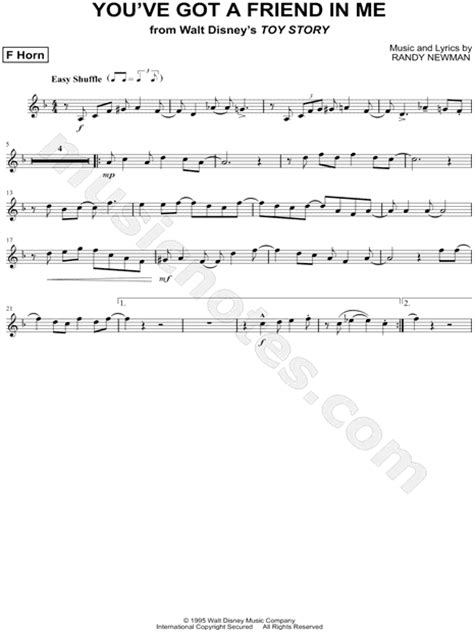 """""""You've Got a Friend in Me - French Horn"""" from 'Toy Story"""