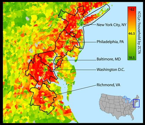 Average Household Carbon Footprint - Eastern United States