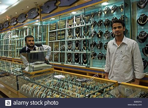 Inside jewellery shop in the Gold souq of Mutrah old