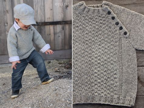 Inspiration for a child's knit, pullover sweater (no