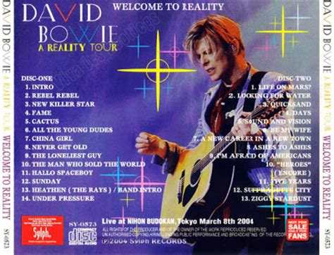 David Bowie: Welcome To Reality