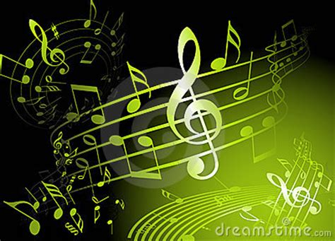 Green Music Theme Stock Images - Image: 13821734