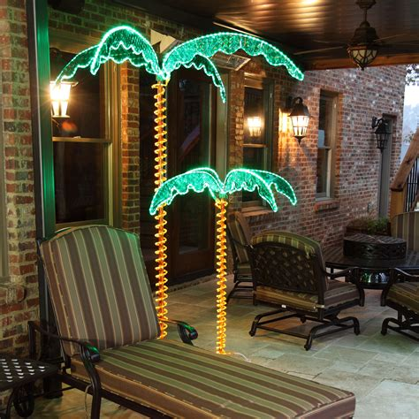 Lighted Palm Trees - 4